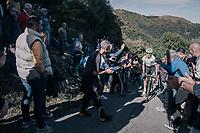 Davide Formolo (ITA/Cannondale-Drapac) enjoying the enthusiastic crowd up the infamous Muro di Sormano (avg 17%/max 25%)<br /> <br /> Il Lombardia 2017<br /> Bergamo to Como (ITA) 247km
