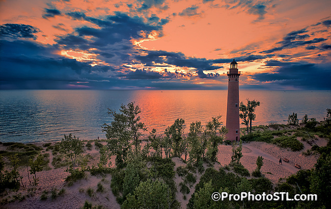 Little Sable Point Lighthouse at Lake Michigan near Silver Lake, Michigan