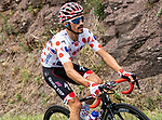 Polka Dot Jersey Julian Alaphilippe (FRA) Quick-Step Floors climbs during Stage 15 of the 2018 Tour de France running 181.5km from Millau to Carcassonne, France. 22nd July 2018. <br /> Picture: ASO/Alex Broadway | Cyclefile<br /> All photos usage must carry mandatory copyright credit (&copy; Cyclefile | ASO/Alex Broadway)