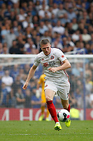 John Lundstram of Sheffield United dribbling during the Premier League match between Chelsea and Sheff United at Stamford Bridge, London, England on 31 August 2019. Photo by Carlton Myrie / PRiME Media Images.