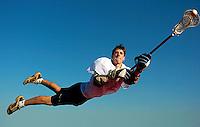 Liberty lacrosse veteran Jack Ledden leads the team in scoring this season. Portrait shot 4-4-05 in Bealeton,VA.