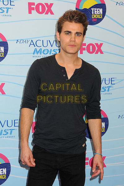 Paul Wesley.Teen Choice Awards 2012 - Press Room held at Gibson Amphitheatre, Universal City, California, USA..July 22nd, 2012.half length black top.CAP/ADM/BP.©Byron Purvis/AdMedia/Capital Pictures.