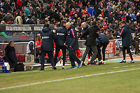 and Barcelona´s sidelines during 2014-15 Spanish King Cup match between Atletico de Madrid and Barcelona at Vicente Calderon stadium in Madrid, Spain. January 28, 2015. (ALTERPHOTOS/Luis Fernandez) /nortephoto.com<br />