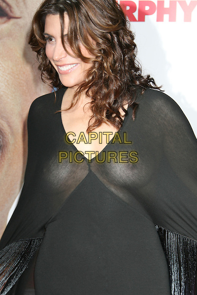 "JO CHAMPA.""Meet Dave"" World Premiere held at the Mann Village Theatre, Westwood, California, USA, 08 July 2008..half length black dress sheer see through boobs breasts nipples no bra  poncho.CAP/ADM/MJ.©Michael Jade/Admedia/Capital Pictures"