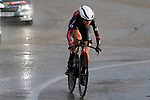 Anastasiia Chursina (RUS) BTC City Ljubljana in action during Stage 1 of the Ceratizit Madrid Challenge by La Vuelta 2019 running 9.3km individual time trial around Boadilla del Monte, Spain. 14th September 2019.<br /> Picture: Luis Angel Gomez/Photogomezsport | Cyclefile<br /> <br /> All photos usage must carry mandatory copyright credit (© Cyclefile | Luis Angel Gomez/Photogomezsport)