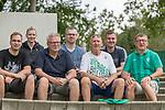 05.01.2019, Trainingsgelaende Randburg Football Club, Johannesburg, RSA, TL Werder Bremen Johannesburg Tag 03<br /> <br /> im Bild / picture shows <br /> <br /> Jochen Steinert (li) (71) aus Walsrode bei Verden  Jahre lebt seit 45 Jahren in Johannesburg und kommt jaehrlich nach Deutschland um Spiele des SV Werder Bremen zu besuchen  (3.von rechts - Hier  mit dem AHOY Crew Fanclub Praesidenten Kai Stoecker (re)aus Osnabrueck sowie Michael Schuettler  (Filsum) , Mathias Haller (Koeln), Claudia Panow (Luebeck) sowie vorne links Fabian Meyer und Rolf Meyer (Bremen) <br /> Foto &copy; nordphoto / Kokenge