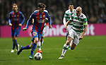 Sergi Roberto of Barcelona  and Scott Brown of Celtic during the Champions League match at Celtic Park, Glasgow. Picture Date: 23rd November 2016. Pic taken by Lynne Cameron/Sportimage