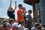 30 MAY 2016: University of Texas-Tyler fans cheer during the Division III Women's Softball Championship is held at the James I Moyer Sports Complex in Salem, VA.  University of Texas-Tyler defeated Messiah College 7-0 for the national title. Don Petersen/NCAA Photos
