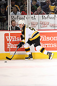 February 17th 2007:  Marc Savard (91) of the Boston Bruins brings the puck up ice vs. the Buffalo Sabres at HSBC Arena in Buffalo, NY.  The Bruins defeated the Sabres 4-3 in a shootout.
