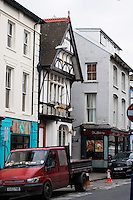 Pictured: Exterior view of Downies Vaults bar on Eastgate Street, Aberystwyth, Wales, UK. Friday 10 February 2017<br /> Re: Rugby player Gareth Davies seen on mobile phone footage assaulting people