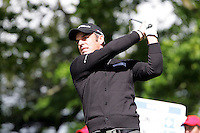 Paul McGinley tees off on the 2nd hole during the third round of the Irish Open on 19th of May 2007 at the Adare Manor Hotel & Golf Resort, Co. Limerick, Ireland. (Photo byEoin Clarke/NEWSFILE).