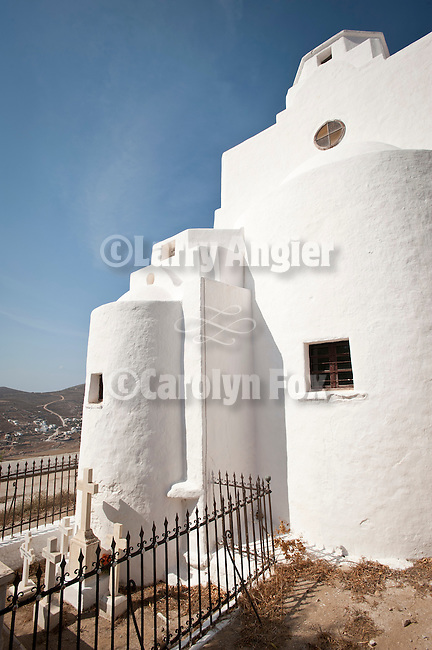 Monastery of Panagia overlooking Chora, Folegandros, Cyclades, Greece