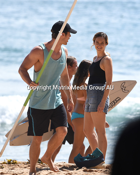 8 FEBRUARY 2016 <br /> SYDNEY, AUSTRALIA<br /> <br /> EXCLUSIVE PICTURES<br /> <br /> Home &amp; Away filming at Palm Beach with James Stewart, Kyle Pryor and Penny McNamee.<br /> <br /> *ALL WEB USE MUST BE CLEARED*<br /> <br /> Please contact prior to use:  <br /> <br /> +61 2 9211-1088 or email images@matrixmediagroup.com.au <br /> <br /> Note: All editorial images subject to the following: For editorial use only. Additional clearance required for commercial, wireless, internet or promotional use.Images may not be altered or modified. Matrix Media Group makes no representations or warranties regarding names, trademarks or logos appearing in the images.