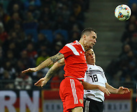 Anton Zabolotny (Russland, Russia) gegen Joshua Kimmich (Deutschland, Germany)) - 15.11.2018: Deutschland vs. Russland, Red Bull Arena Leipzig, Freundschaftsspiel DISCLAIMER: DFB regulations prohibit any use of photographs as image sequences and/or quasi-video.