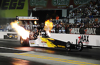 Sept. 17, 2010; Concord, NC, USA; NHRA top fuel dragster driver Fred Farndon during qualifying for the O'Reilly Auto Parts NHRA Nationals at zMax Dragway. Mandatory Credit: Mark J. Rebilas/