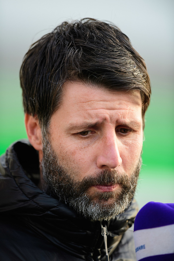 Lincoln City manager Danny Cowley during the pre-match warm-up<br /> <br /> Photographer Chris Vaughan/CameraSport<br /> <br /> The EFL Sky Bet League Two - Lincoln City v Newport County - Saturday 22nd December 201 - Sincil Bank - Lincoln<br /> <br /> World Copyright © 2018 CameraSport. All rights reserved. 43 Linden Ave. Countesthorpe. Leicester. England. LE8 5PG - Tel: +44 (0) 116 277 4147 - admin@camerasport.com - www.camerasport.com