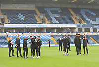 Blackpool players inspect the pitch ahead of todays match<br /> <br /> Photographer Kevin Barnes/CameraSport<br /> <br /> The EFL Sky Bet League Two - Wycombe Wanderers v Blackpool - Saturday 11th March 2017 - Adams Park - Wycombe<br /> <br /> World Copyright &copy; 2017 CameraSport. All rights reserved. 43 Linden Ave. Countesthorpe. Leicester. England. LE8 5PG - Tel: +44 (0) 116 277 4147 - admin@camerasport.com - www.camerasport.com