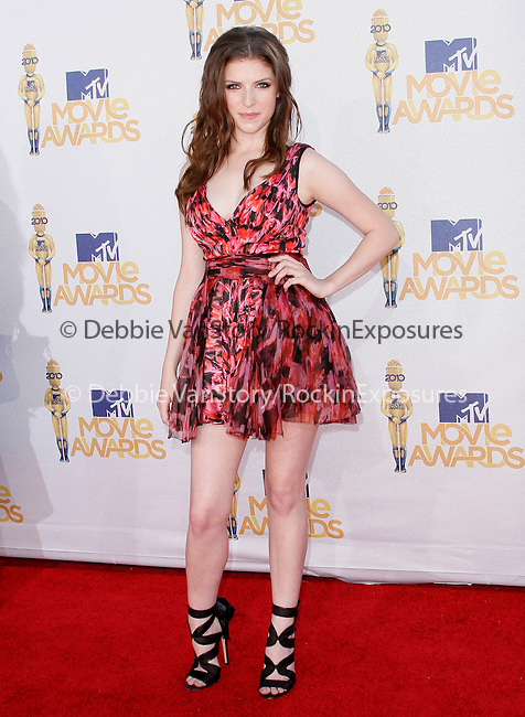 Anna Kendrick at the 2010 MTV Movie Awards held at The Gibson Ampitheatre in Universal City, California on June 06,2010                                                                               © 2010 Debbie VanStory / Hollywood Press Agency