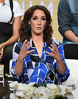 "BEVERLY HILLS - AUGUST 2: Executive Producer/Star Jennifer Beals onstage during the ""The L Word: Generation Q"" panel at the Showtime portion of the Summer 2019 TCA Press Tour at the Beverly Hilton on August 2, 2019 in Los Angeles, California. (Photo by Frank Micelotta/PictureGroup)"