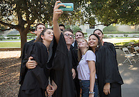 The Occidental College O-Team work together for the last time during the class of 2020 Convocation, Aug. 30, 2016.<br /> (Photo by Marc Campos, Occidental College Photographer)