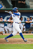 Deivy Castillo (12) of the Ogden Raptors at bat against the Grand Junction Rockies in Pioneer League action at Lindquist Field on July 6, 2015 in Ogden, Utah. Ogden defeated Grand Junction 8-7. (Stephen Smith/Four Seam Images)
