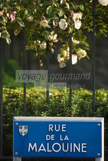 Europe/France/Bretagne/35/Ille et Vilaine/Dinard:Plaque de rue Rue de la Malouine