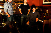 Boulder-based jam band, Wide Mouth Grin, at Denver's City Park and Kinga Lounge.  Band members Steve Dicesare, Mark Brummer, and Pete Solveson.  Songwriter Dicesare is also 85% deaf and composes songs in the low registers, sometimes holding his guitar against his head to hear his work.