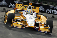 Baltimore -September 2: Helio Castroneves (3) during the warmup session Baltimore Grand Prix at the Baltimore Temporary Street Course on September 2, 2012 in Baltimore, Maryland (Ryan Lasek/Eclipse Sportswire)