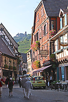 main street half timbered house ch. st ulrich in back ribeauville alsace france
