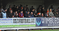Blackpool fans enjoy the pre-match atmosphere <br /> <br /> Photographer Kevin Barnes/CameraSport<br /> <br /> The EFL Sky Bet League One - AFC Wimbledon v Blackpool - Saturday 29th December 2018 - Kingsmeadow Stadium - London<br /> <br /> World Copyright &copy; 2018 CameraSport. All rights reserved. 43 Linden Ave. Countesthorpe. Leicester. England. LE8 5PG - Tel: +44 (0) 116 277 4147 - admin@camerasport.com - www.camerasport.com