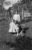 Rural Austria - Girls and Dog (Pre-1920)