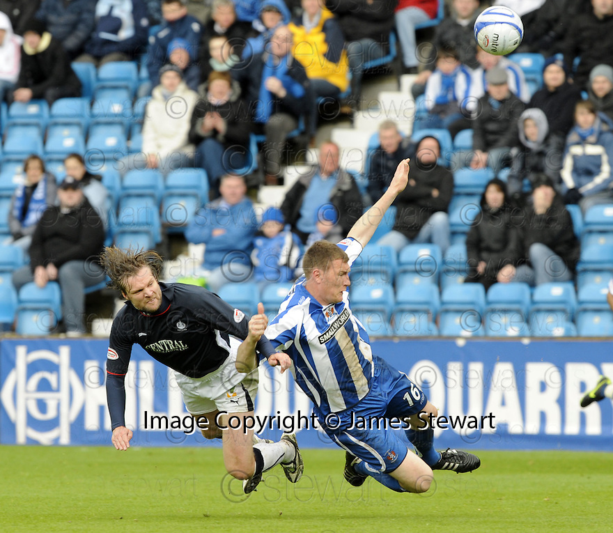09/05/2009  Copyright  Pic : James Stewart.sct_jspa_14_kilmarnock_v_falkirk.KEVIN KYLE IS TAKEN OUT LATE BY STEPHEN PRESSLEY.James Stewart Photography 19 Carronlea Drive, Falkirk. FK2 8DN      Vat Reg No. 607 6932 25.Telephone      : +44 (0)1324 570291 .Mobile              : +44 (0)7721 416997.E-mail  :  jim@jspa.co.uk.If you require further information then contact Jim Stewart on any of the numbers above.........