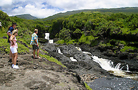 Visitors to Hana stop to see the famous Seven Sacred Pools.