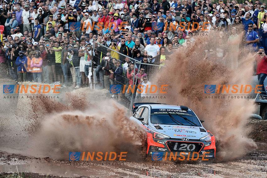 Thierry Neuville (BEL)- Nicolas Gilsoul (BEL)- Hyundai I20 WRC<br /> <br />  <br /> Rally di Sardegna 2016 <br /> Foto Lavadinho / Panoramic / Insidefoto