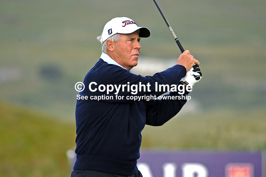 Terry Gale, Australia, professional, golfer, Irish Seniors Open, Ballyliffin Old Course, Co Donegal, Ireland, 200806207725..Copyright Image from Victor Patterson, 54 Dorchester Park, Belfast, UK, BT9 6RJ..Tel: +44 28 9066 1296.Mob: +44 7802 353836.Voicemail +44 20 8816 7153.Skype: victorpattersonbelfast.Email: victorpatterson@mac.com.Email: victorpatterson@ireland.com (back-up)..IMPORTANT: If you wish to use this image or any other of my images please go to www.victorpatterson.com and click on the Terms & Conditions. Then contact me by email or phone with the reference number(s) of the image(s) concerned.