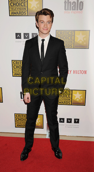Chris Colfer.The 2nd Annual Critics' Choice Television Awards held at The Beverly Hilton in Beverly Hills, California, USA..June 18th, 2012.full length white shirt black tie suit .CAP/ROT/TM.©Tony Michaels/Roth Stock/Capital Pictures