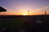 Sunsets on Bloomfield Road prior to demolition work commencing the following day......© Phill Heywood.tel 07806 775649