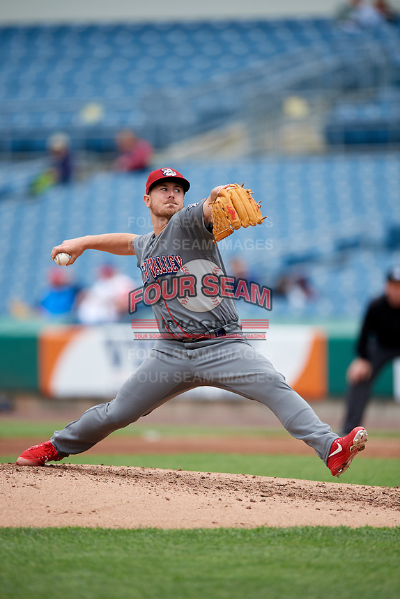 Lehigh Valley IronPigs relief pitcher Mark Leiter Jr. (47) delivers a pitch during a game against the Syracuse Chiefs on May 20, 2018 at NBT Bank Stadium in Syracuse, New York.  Lehigh Valley defeated Syracuse 5-2.  (Mike Janes/Four Seam Images)