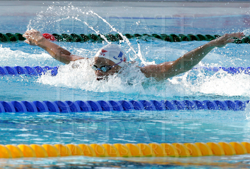 France's Aurore Mongel swims during the women's 100 meters butterfly event at the Swimming World Championships in Rome, 27 July 2009..UPDATE IMAGES PRESS/Riccardo De Luca