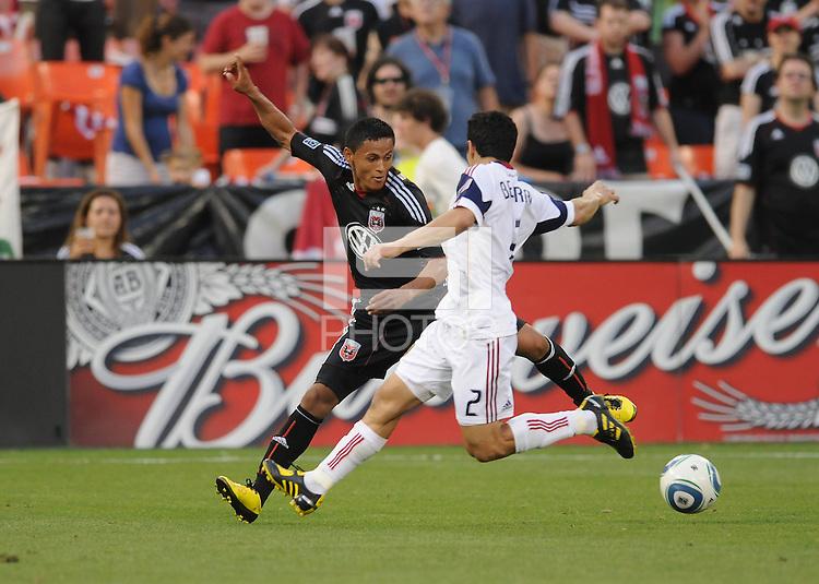 DC United midfielder Andy Najar (14) goes against Real Salt Lake defender Tony Beltran (2)   DC United and Real Salt Lake tied 0-0 at RFK Stadium, Wednesday  June 2  2010.