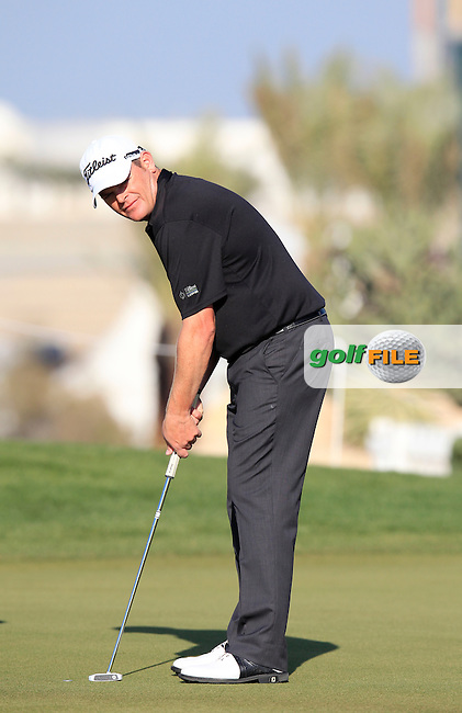 David DRYSDALE (SCO) on the 10th green during Thursday's Round 2 of the 2015 Commercial Bank Qatar Masters held at Doha Golf Club, Doha, Qatar.: Picture Eoin Clarke, www.golffile.ie: 1/22/2015