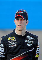 Nov. 13, 2009; Avondale, AZ, USA; NASCAR Sprint Cup Series driver Brad Keselowski during qualifying for the Checker O'Reilly Auto Parts 500 at Phoenix International Raceway. Mandatory Credit: Mark J. Rebilas-