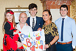 Cheering on Brogan O'Sullivan at the Miss Kerry selection in the Plaza Hotel Killarney on Saturday night were l-r: Shona and Noel O'Sullivan, Fiachra Griffin, Idel Lawlor and Jamie Stack Abbeydourney