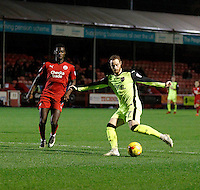 Exeter City's Ryan Harley fires a shot in during the Sky Bet League 2 match between Crawley Town and Exeter City at Broadfield Stadium, Crawley, England on 28 February 2017. Photo by Carlton Myrie / PRiME Media Images.
