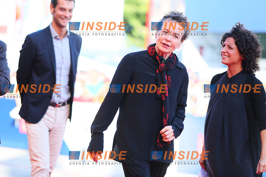 VENICE, ITALY - SEPTEMBER 09: Laurie Anderson attends 'Heart Of A Dog' Red Carpet during 72nd Venice Film Festival at Palazzo Del Cinema on September 9, 2015 in Venice, Italy. (Mark Cape/insidefoto)