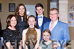 Niamh O'Mahony Tralee with her family at the Kerry Sports awards in the Gleneagle Hotel on Friday night front row l-r: Catherine, Niamh, Siobhan and Ger O'Mahony. Back row: Eidín Dowling and Oisin O'Mahony