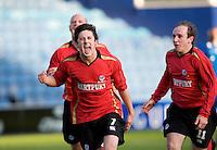 29 APR 2009 - LONDON,GBR - UWE Hartpury's Steve Davies  celebrates equalising against Loughborough University in the 2009 BUCS Mens Football Championship Final. (PHOTO (C) NIGEL FARROW)