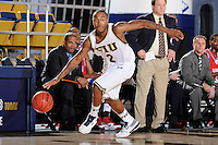 31 December 2009:   FIU's Stephon Weaver (2) recovers a loose ball in the second half as the South Alabama Jaguars defeated the FIU Golden Panthers, 71-59, at the U.S. Century Bank Arena in Miami, Florida.