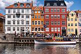 DENMARK, Copenhagen, Boat in Nyhavn district, Europe