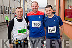 John Downey, Gene O'Keeffe and Liam Dennehy at the start of the Kerry's Eye Tralee, Tralee Half Marathon on Saturday.
